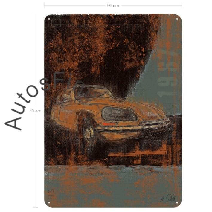 Citroen DS - Blechbild No. 121Plate