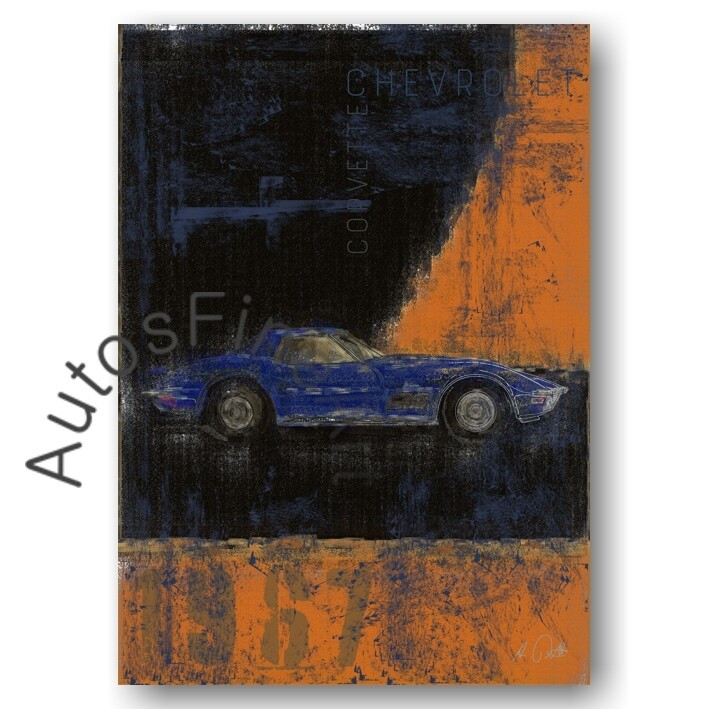Chevrolet Corvette Stingray - Poster No. 120Plate