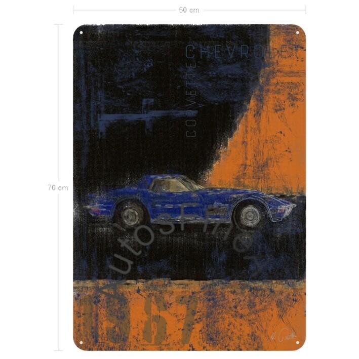 Chevrolet Corvette Stingray - Blechbild No. 120Plate