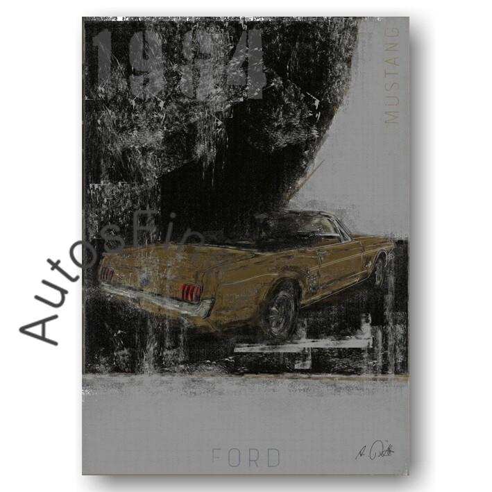 Ford Mustang Cabriolet - Kunstdruck No. 119Plate