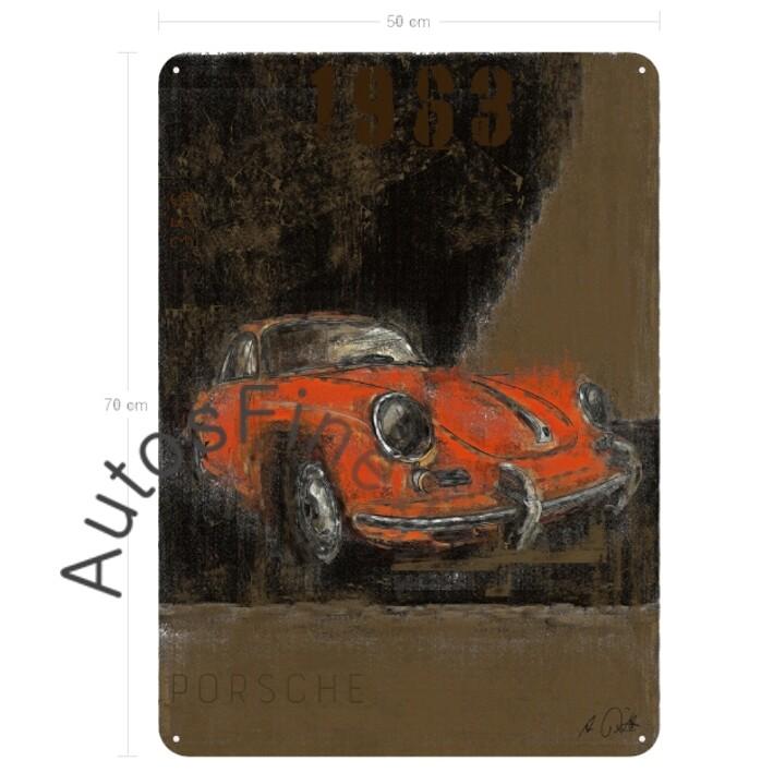 Porsche 356 B - Blechbild No. 118Plate