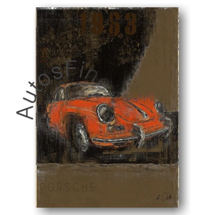 Porsche 356 B - Kunstdruck No. 118Plate