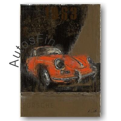 Porsche 356 B - Poster No. 118Plate