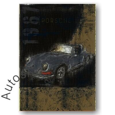 Porsche 911T Targa - Poster No. 116Plate