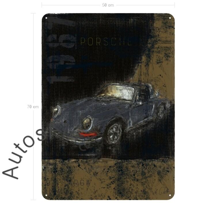 Porsche 911T Targa - Blechbild No. 116Plate