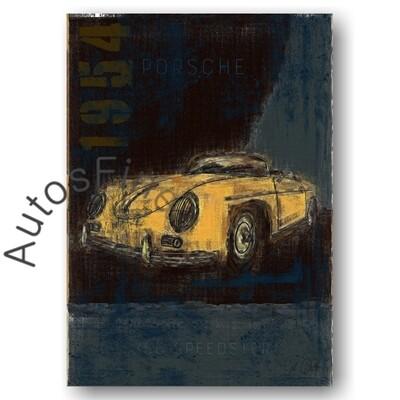 Porsche 356 Speedster - HD Aluminiumbild No. 115Plate