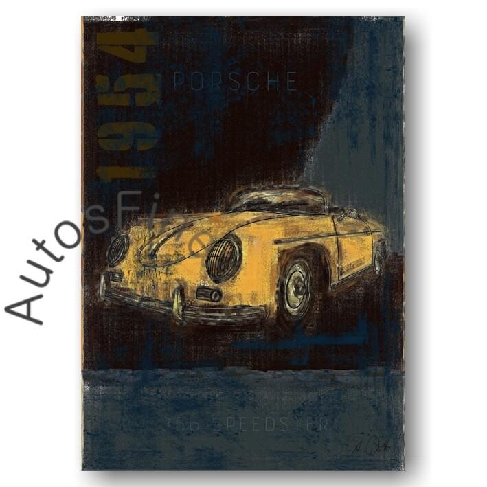 Porsche 356 Speedster - Poster No. 115Plate
