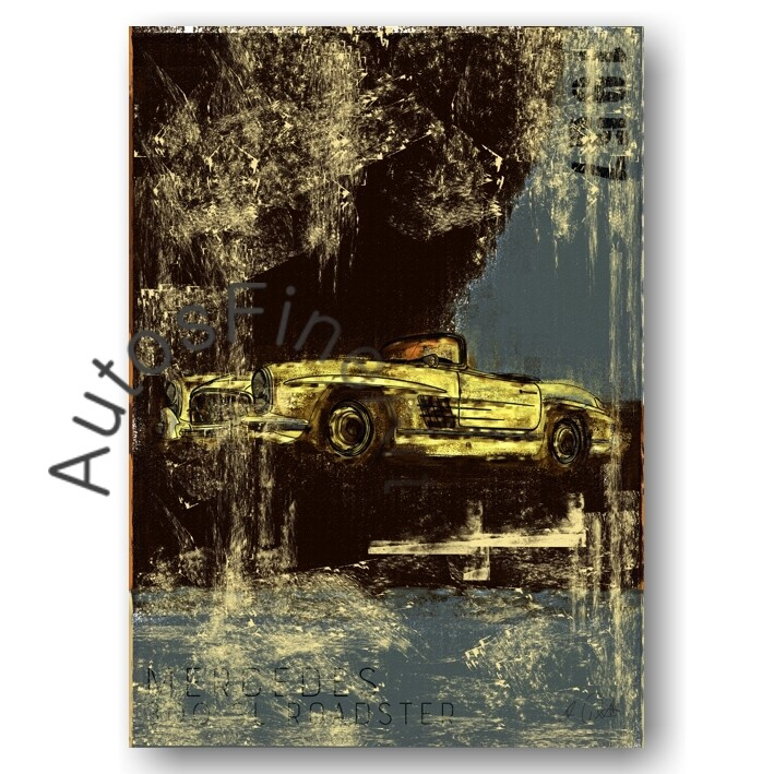 Mercedes 300 SL Roadster - Poster No. 114Plate