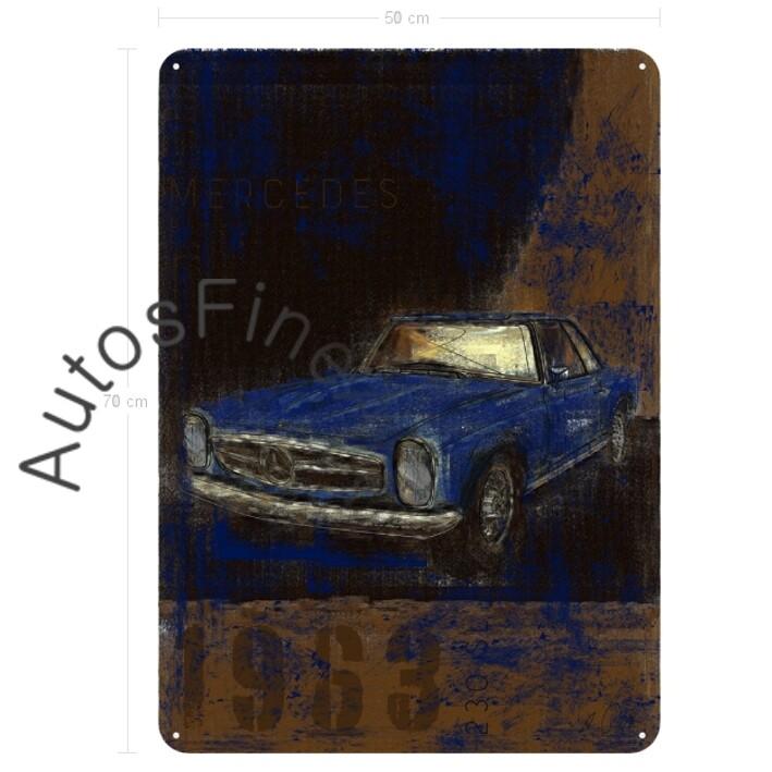 Mercedes 280 SL Pagode - Blechbild No. 113Plate