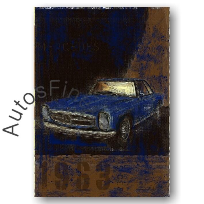 Mercedes 280 SL Pagode - HD Aluminiumbild No. 113Plate