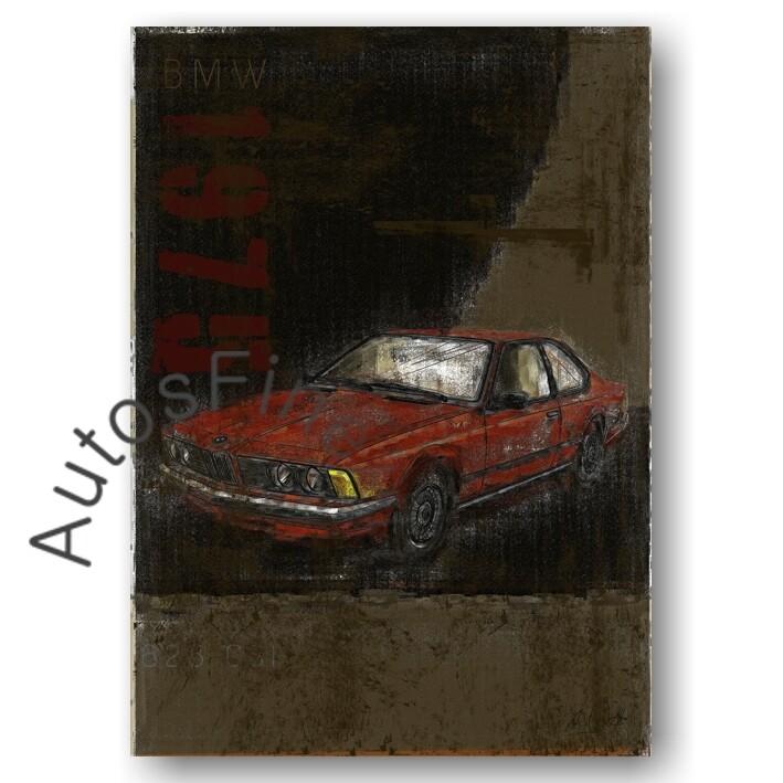 BMW 628 CSI - Poster No. 112Plate