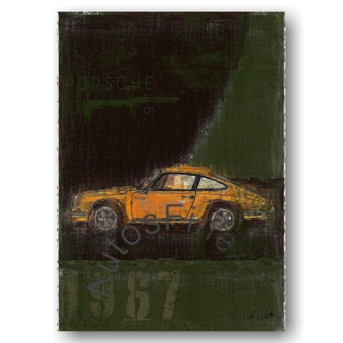 Porsche 911 T - Poster No. 111Plate