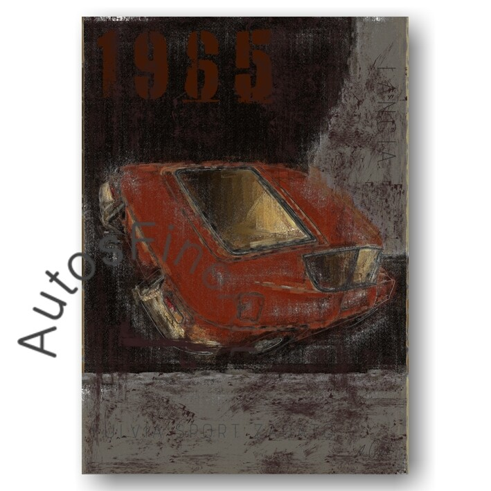 Lancia Fulvia Sport - HD Aluminiumbild No. 108Plate