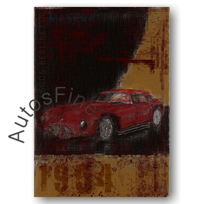 Maserati A6GCS/53 Berlinetta - Kunstdruck No. 105Plate
