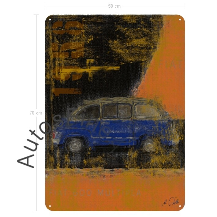 Fiat 600 Multipla - Blechbild No. 102Plate