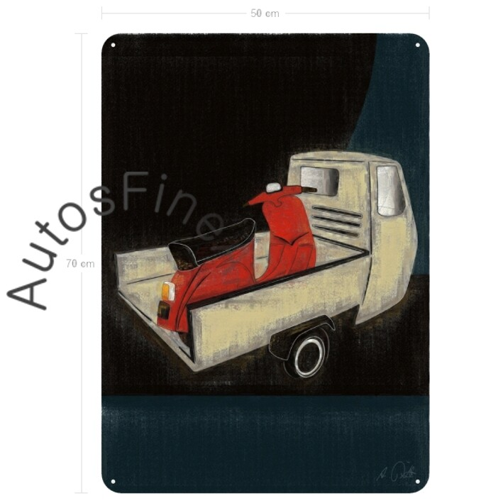 Ape + Vespa - Blechbild No. 93aClassic