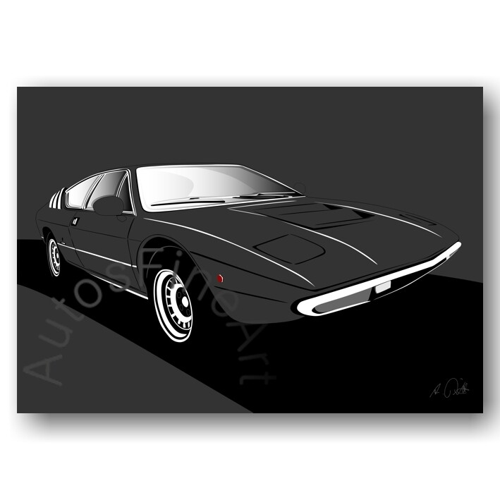 Lamborghini Urraco - HD Aluminiumbild No. 79sketch