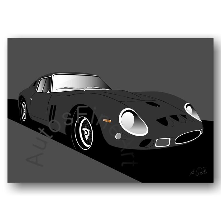 Ferrari 250 GTO - HD Aluminiumbild No. 86sketch