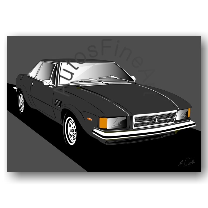 De Tomaso Longchamp - HD Aluminiumbild No. 84sketch