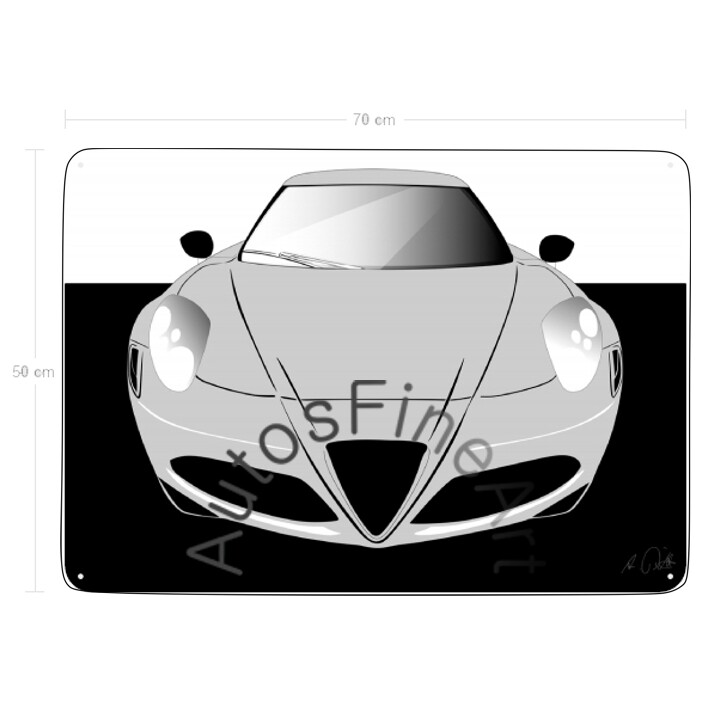 Alfa Romeo 4c - Blechbild No. 90sketch
