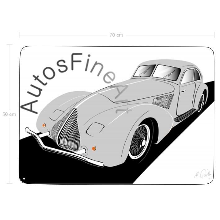 Alfa Romeo 8C 2900A - Blechbild No. 87sketch