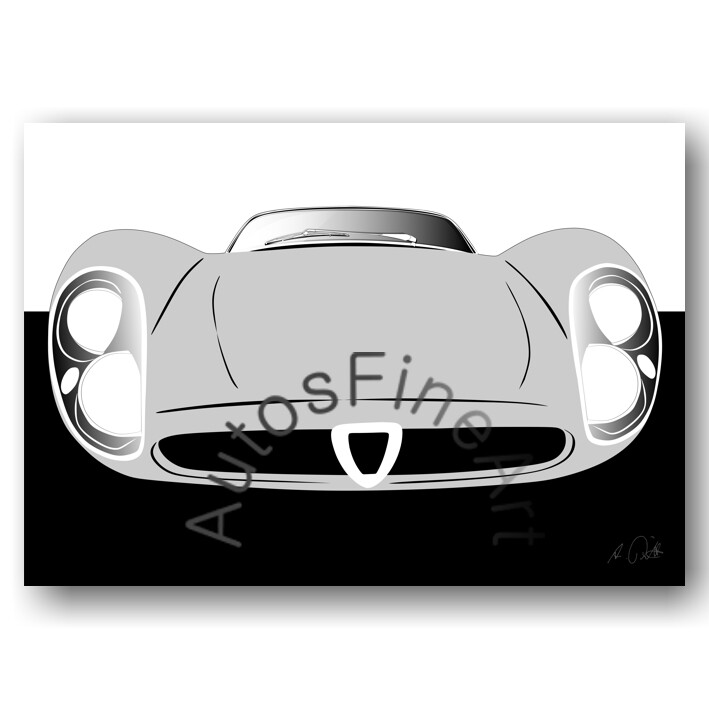 Alfa Romeo 33 Stradale - HD Aluminiumbild No. 83sketch