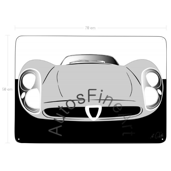 Alfa Romeo 33 Stradale - Blechbild No. 83sketch