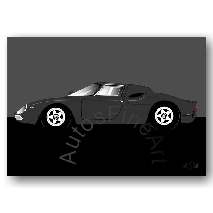 Ferrari 250 LM - HD Aluminiumbild No. 78sketch