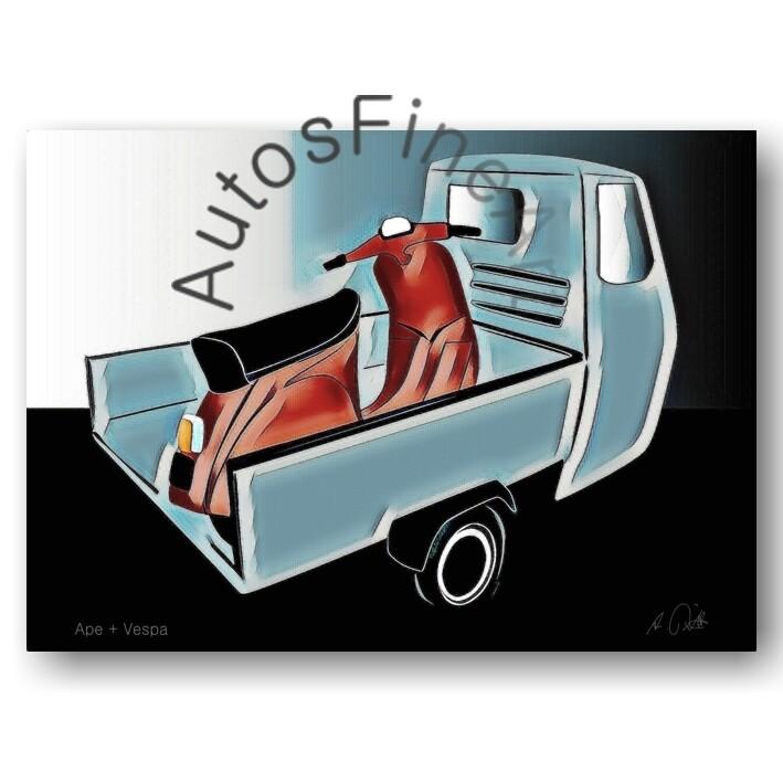 Ape + Vespa - Kunstdruck No. 93special