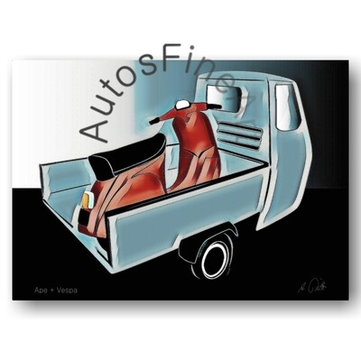 Ape + Vespa - Poster No. 93special