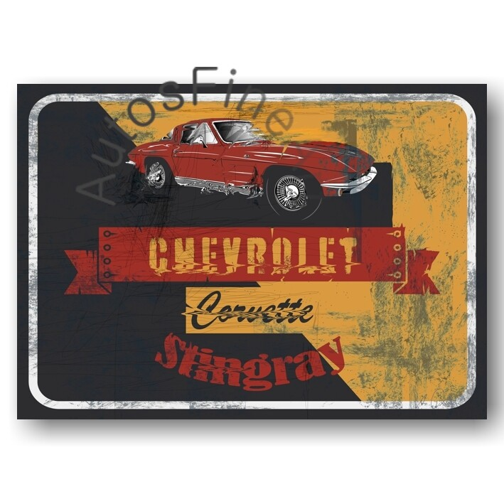 Chevrolet Corvette Stingray - HD Aluminiumbild No. 156street