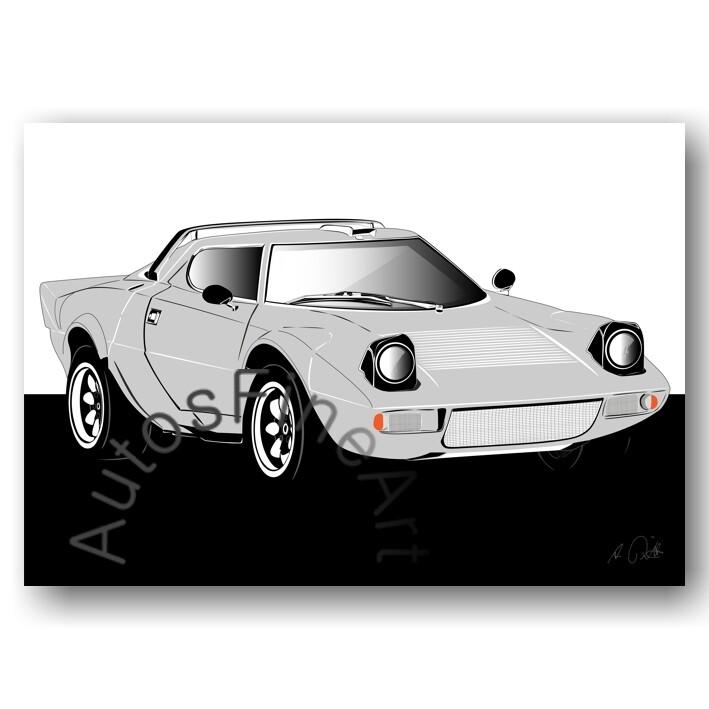 Lancia Stratos HF - Poster No. 61sketch