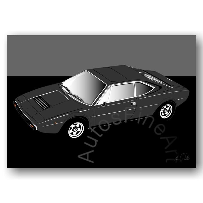 Ferrari Dino 308 GT4 - HD Aluminiumbild No. 62sketch