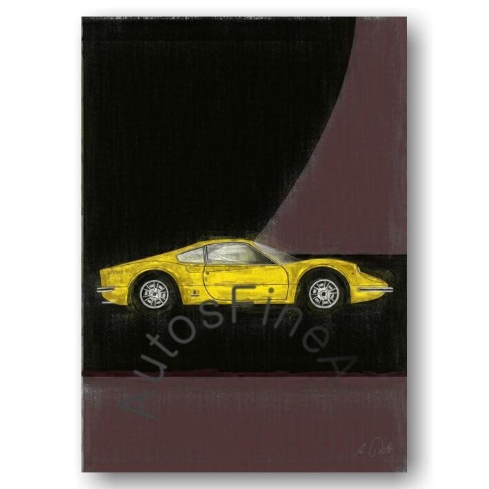 Ferrari Dino 206 GT - HD Aluminiumbild No. 19aClassic