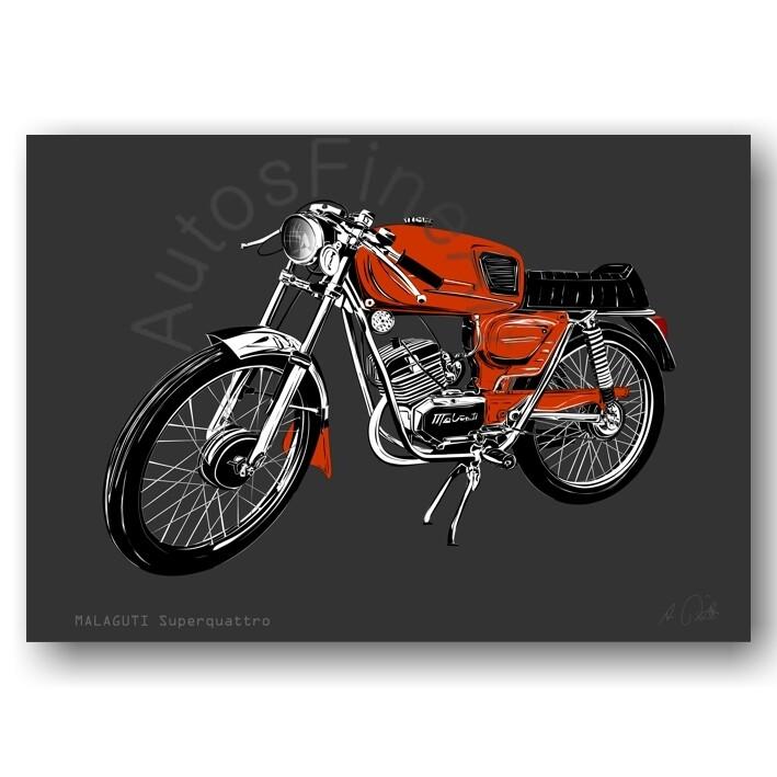 Poster MOTORRAD No. 1sketch MALAGUTI Superquattro