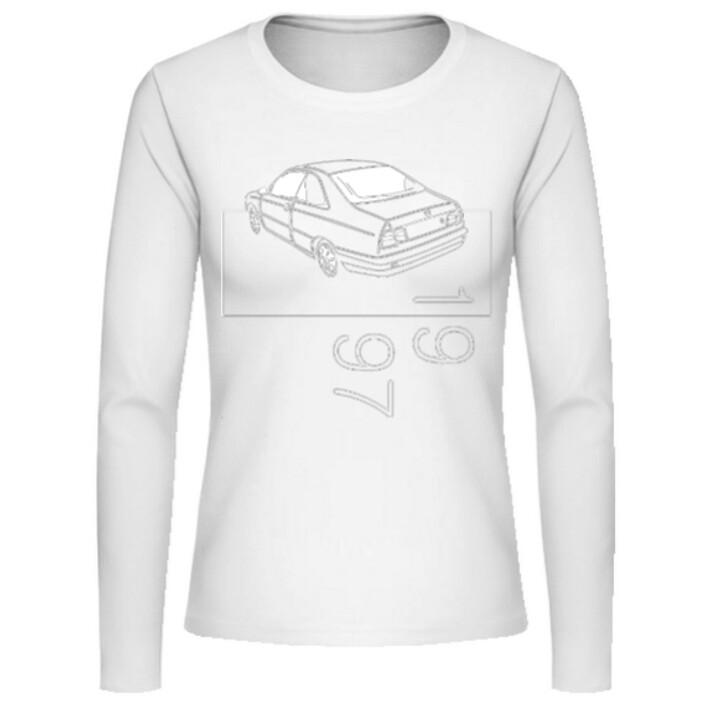 Lancia Kappa Coupé Frauen Langarmshirt - No. 22sketch