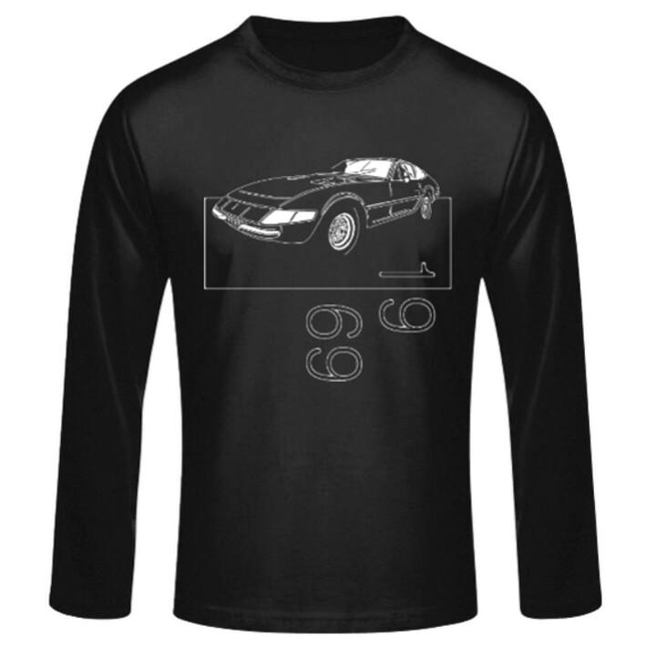 "Ferrari 365 GTB/4 ""Daytona"" Männer Langarmshirt - No. 6sketch"
