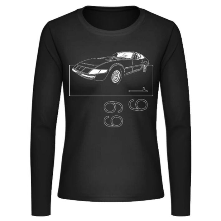 "Ferrari 365 GTB/4 ""Daytona"" Frauen Langarmshirt - No. 6"
