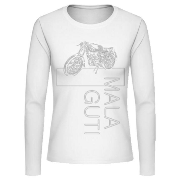 MOTORRAD No. 1sketch MALAGUTI Superquattro - Frauen Langarmshirt