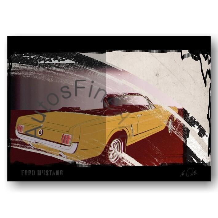 Ford Mustang Cabriolet - HD Aluminiumbild No. 119urban