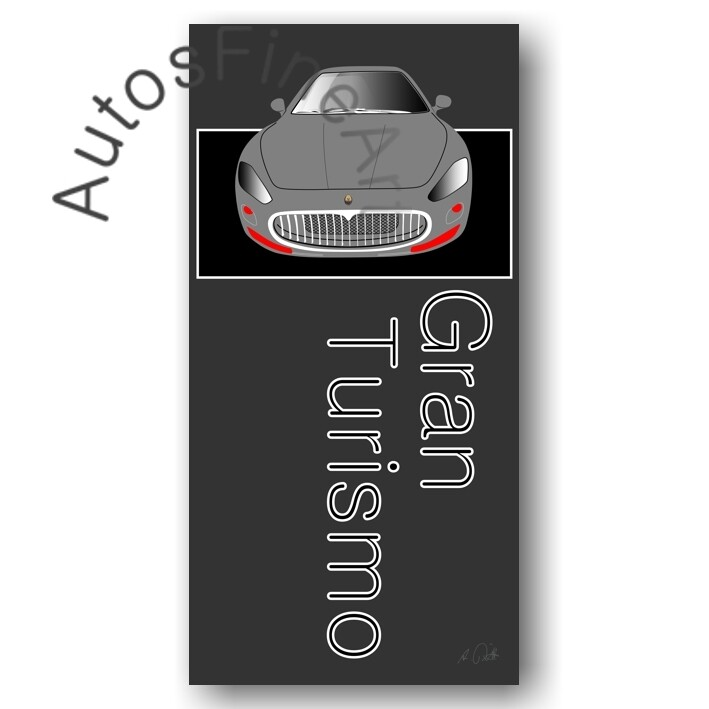 HD Aluminiumbild Maserati Gran Turismo - No. 2named