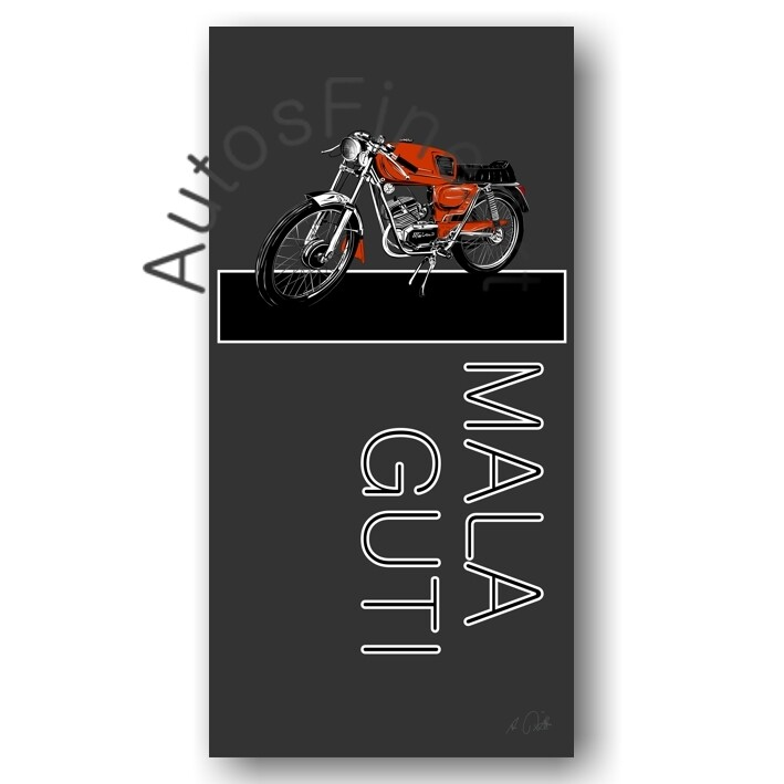 HD Aluminiumbild MOTORRAD No. 1named MALAGUTI Superquattro