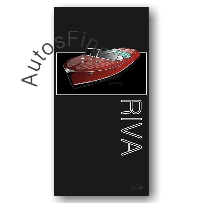 HD Aluminiumbild SHIP No. 2named RIVA BOOT