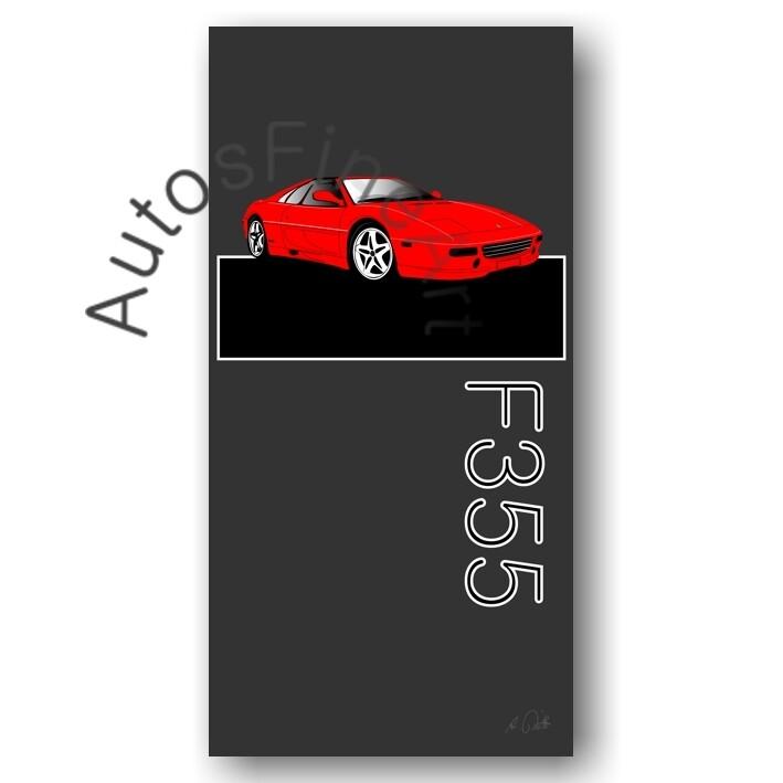 HD Aluminiumbild Ferrari F355 - No. 1named