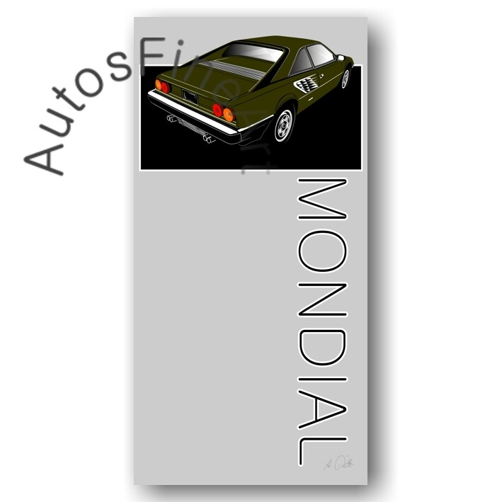 Ferrari Mondial - HD Aluminiumbild No. 3named