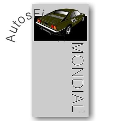 Ferrari Mondial - HD Aluminiumbild No. 3sketch