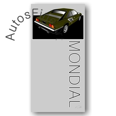 Poster Ferrari Mondial - No. 3named
