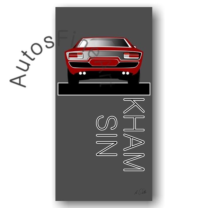 Poster Maserati Khamsin - No. 5named