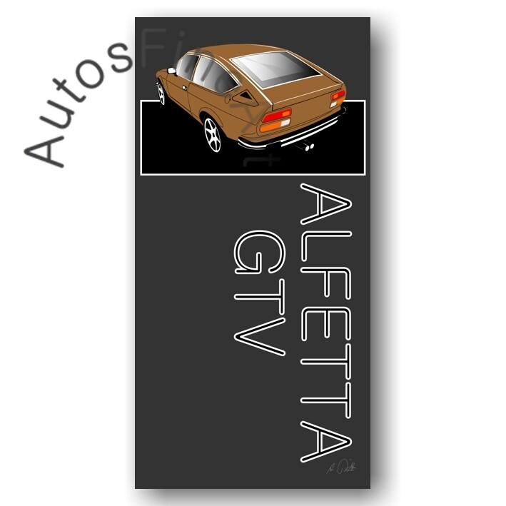 Alfa Romeo Alfetta GTV - HD Aluminiumbild No. 7named