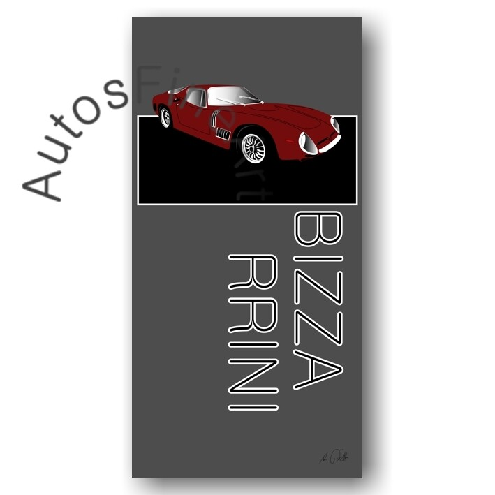 Bizzarrini 5300 GT - HD Aluminiumbild No. 10named